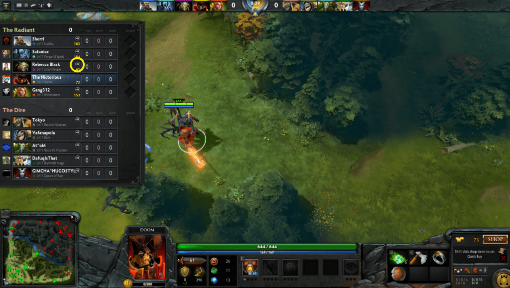 Block/Mute chat in Dota 2