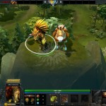 Bristleback with courier in Dota 2