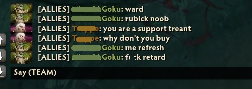 How to block chat Dota 2