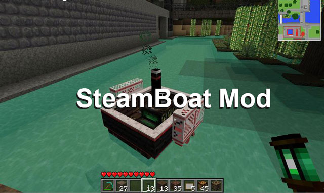 SteamBoat Mod for Minecraft 1.6.4/1.6.2