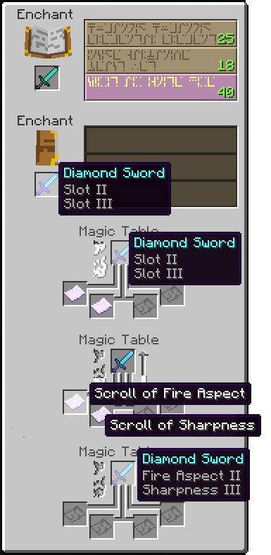 Craft and Enchant Mod for Minecraft 1.6.4/1.6.2/1.5.2