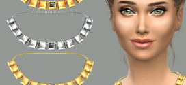 Luxury massive jewelry – Squares metal necklace