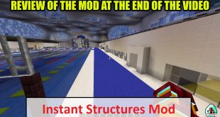 Download Instant Structures Mod [1.16.5-1.8.9->1.7.10] Mods for Minecraft