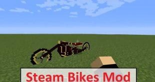 Download Steam Bikes Mod 1.7.10-1.7.2 Mods for Minecraft