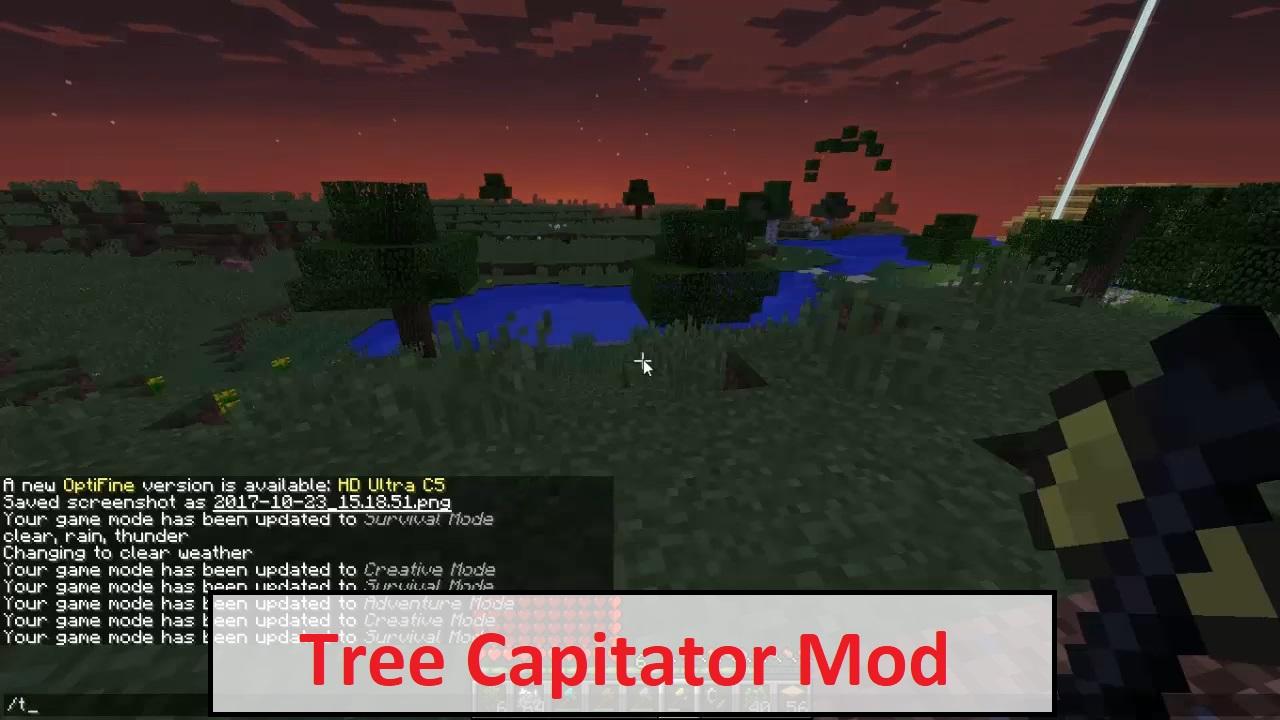 Tree Capitator Mod