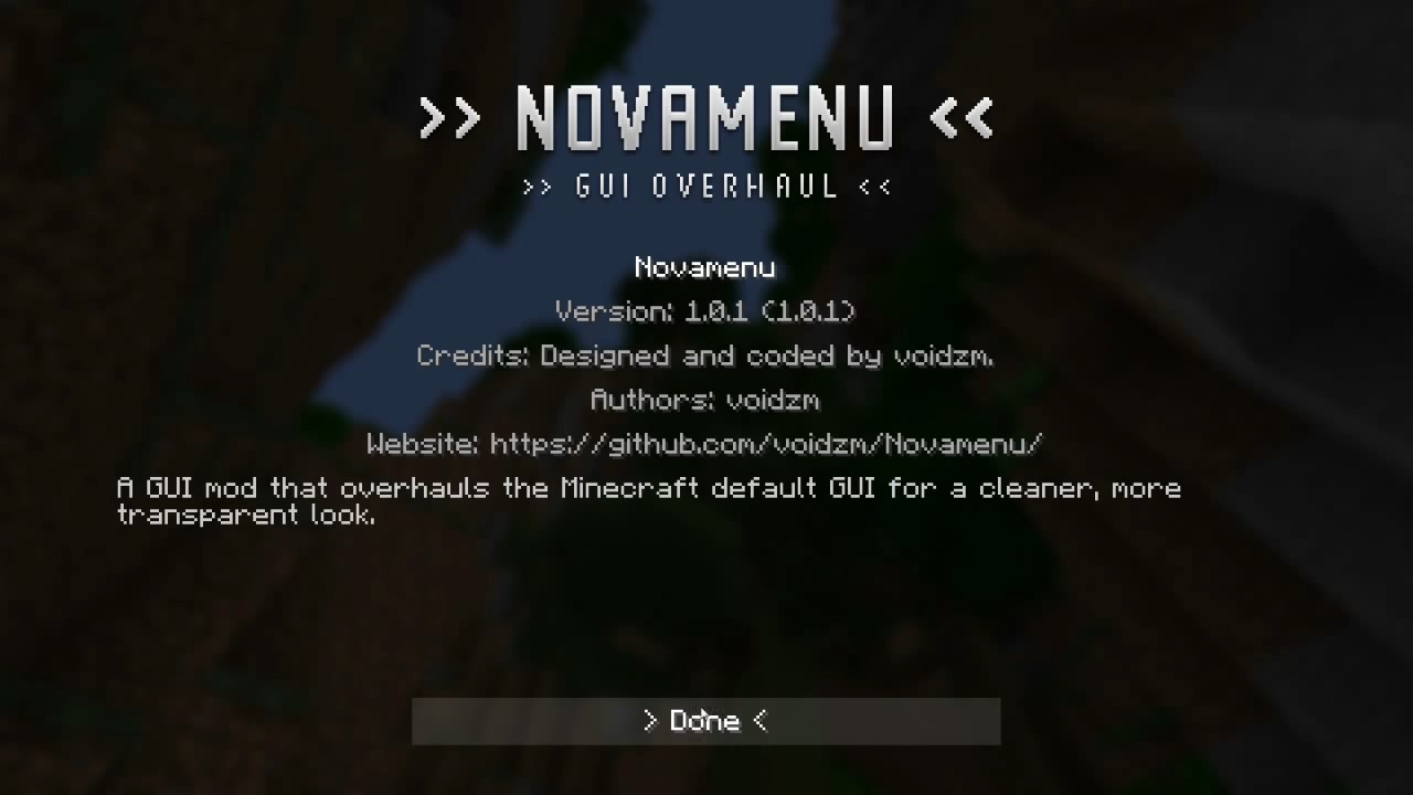 Novamenu Clean And Modern GUI Mod